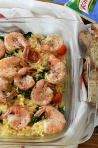Easy Garlic Shrimp Risotto