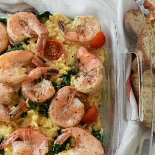 Shrimp and cheese risotto