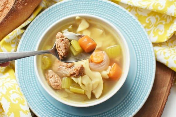 chicken noodle sausage soup recipe1