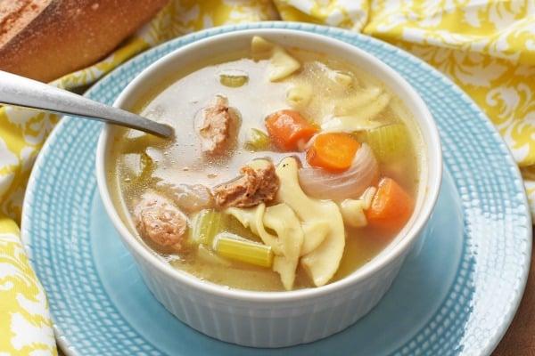 chicken noodle sausage soup1