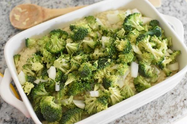 Broccoli in casserole dish1