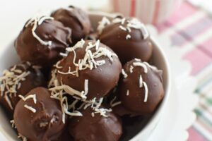 Dark Chocolate Coconut Truffles1