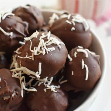 Dark Chocolate Coconut Truffles1