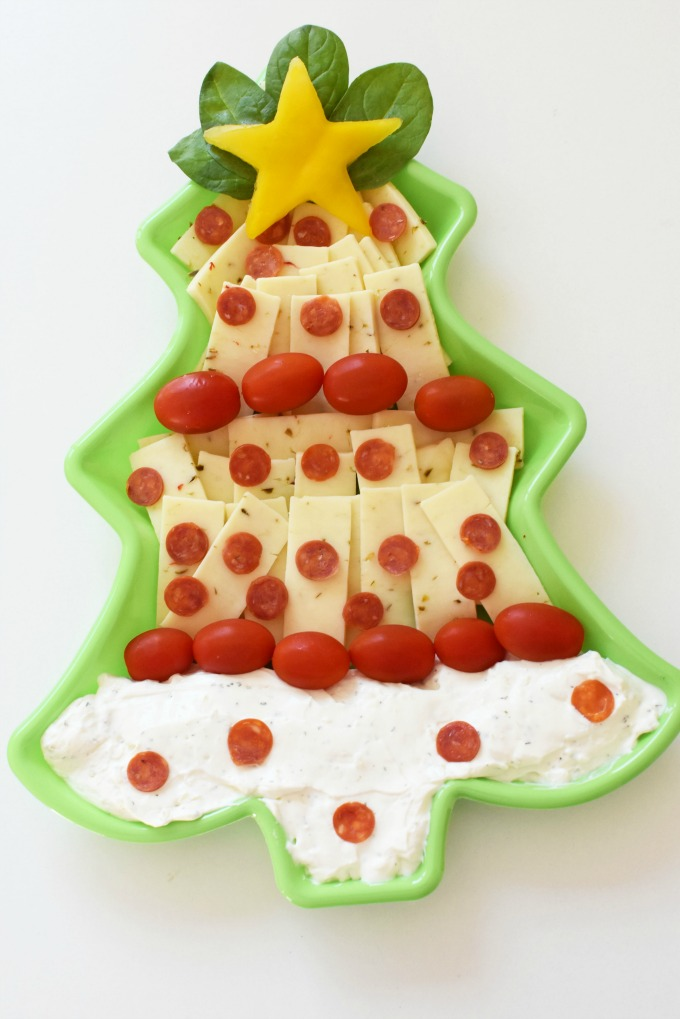 Christmas Tree Dip & Cheese Platter1