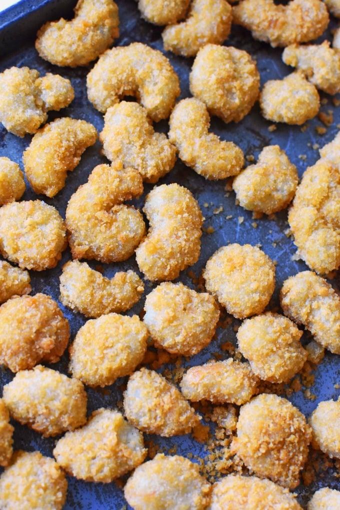 Gortons Popcorn Shrimp on pan1