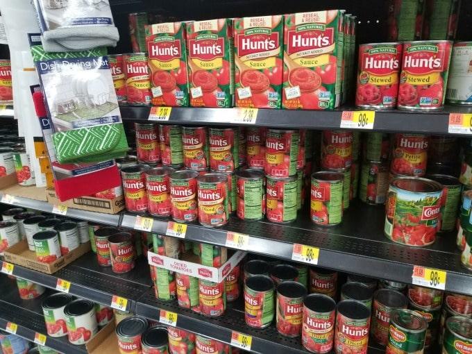 Hunts Tomatoes at Walmart