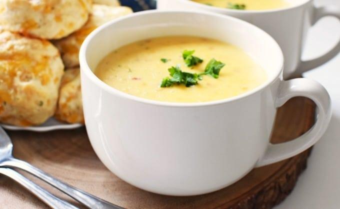 Loaded Potato Soup in Bowl1