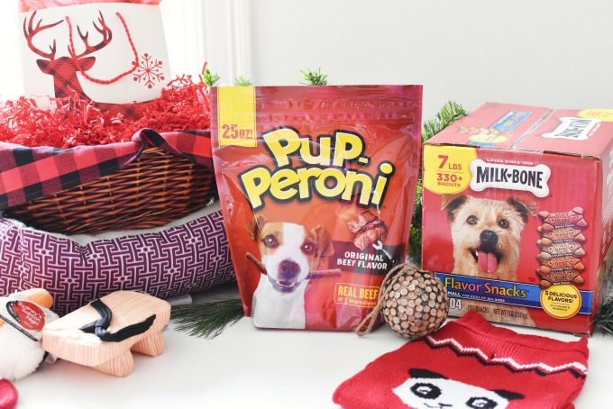 Pup-Peroni and Milk Bone Dog Gift Basket1