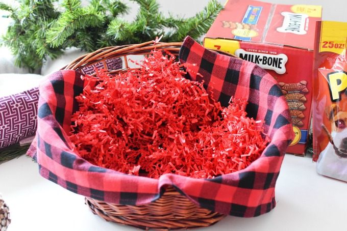 Red Plaid Gift Basket1