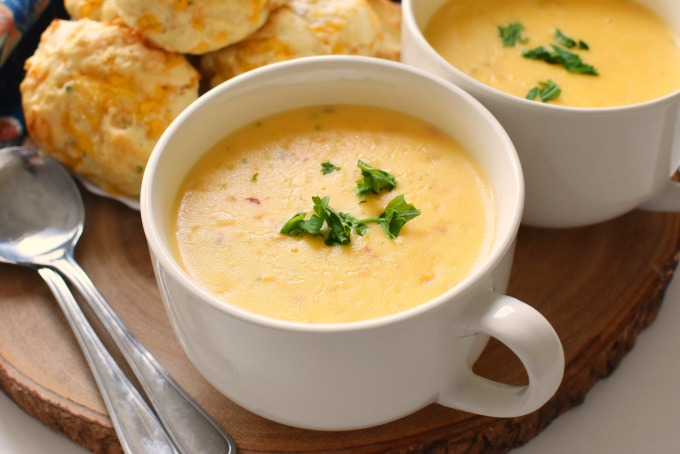 Soup and biscuits1