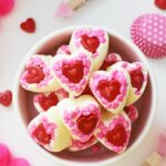 Easy, Adorable, & Quick DIY White Chocolate Valentine's Day Candy Hearts