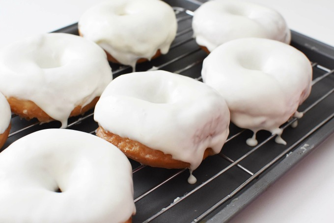 White Frosted Donut on drip tray1