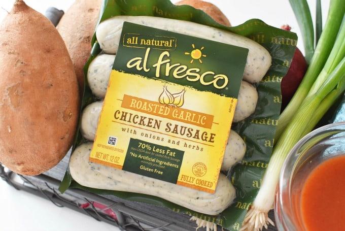 al Fresco Roasted Garlic Chicken Sausage1