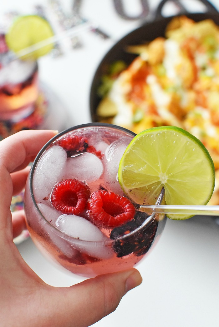 Berry Delicious Mocktail with Nachos1