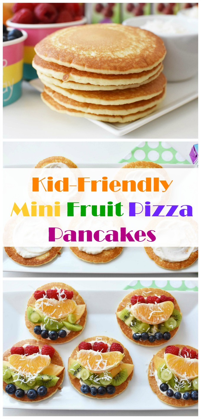 Kid-Friendly Mini Fruit Pizza Pancakes