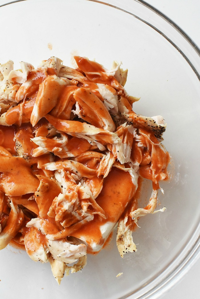 Shredded Chicken with Buffalo Sauce1