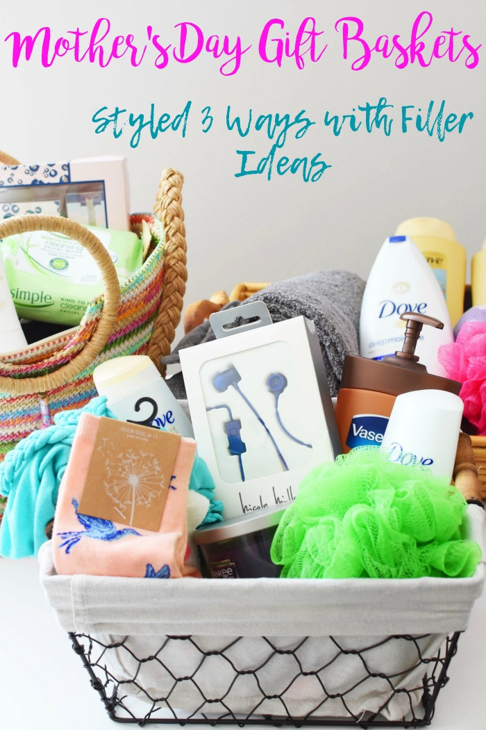 Gifts Ideas For Mothers Day: Mother's Day Gift Basket Styled 3 Ways With Filler Ideas
