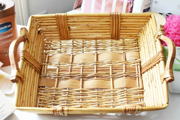 Wicker Rectangle Basket 1