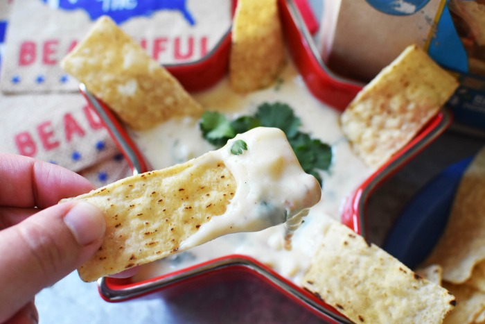 White Queso and Mission Strips Chips 1