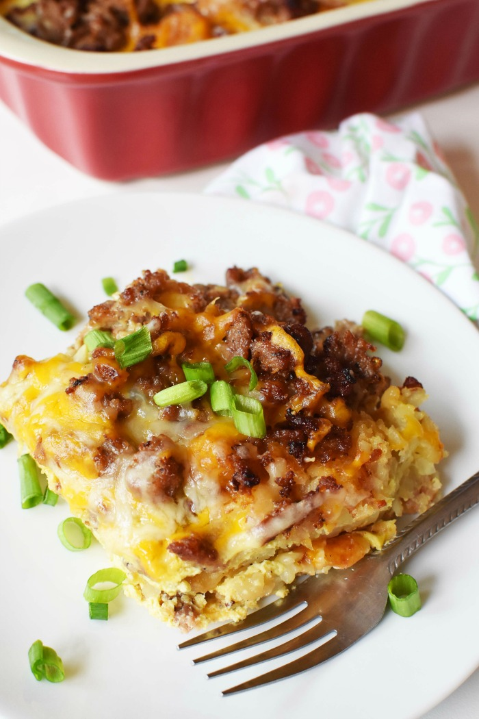 Sausage Tater Tot Baked Casserole 1