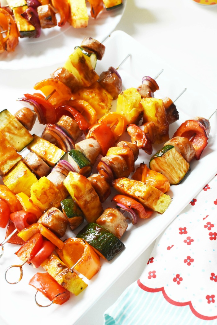 Chicken Sausage Kabobs 1