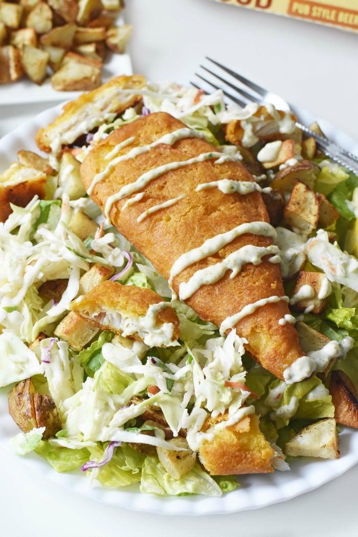 Fish and Chips Salad 1