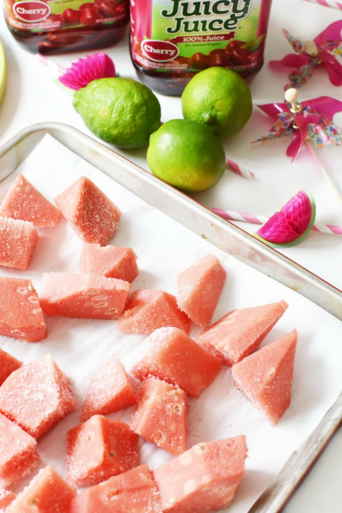 Frozen Watermelon Chunks 1