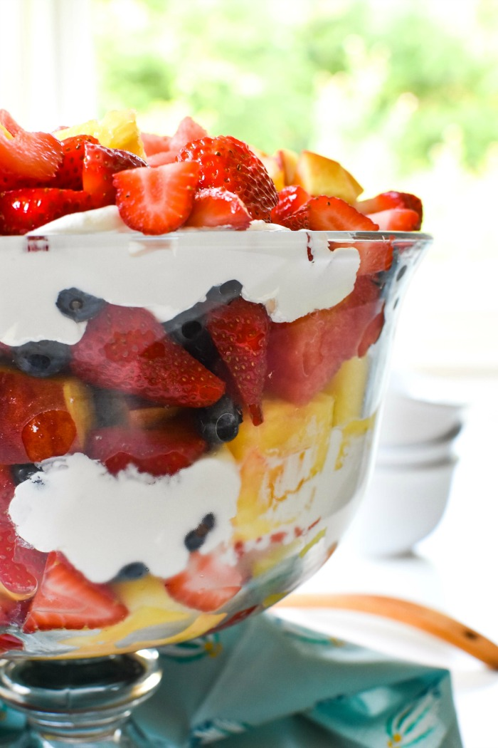 Fruit Salad Trifle with Layered Cream 1