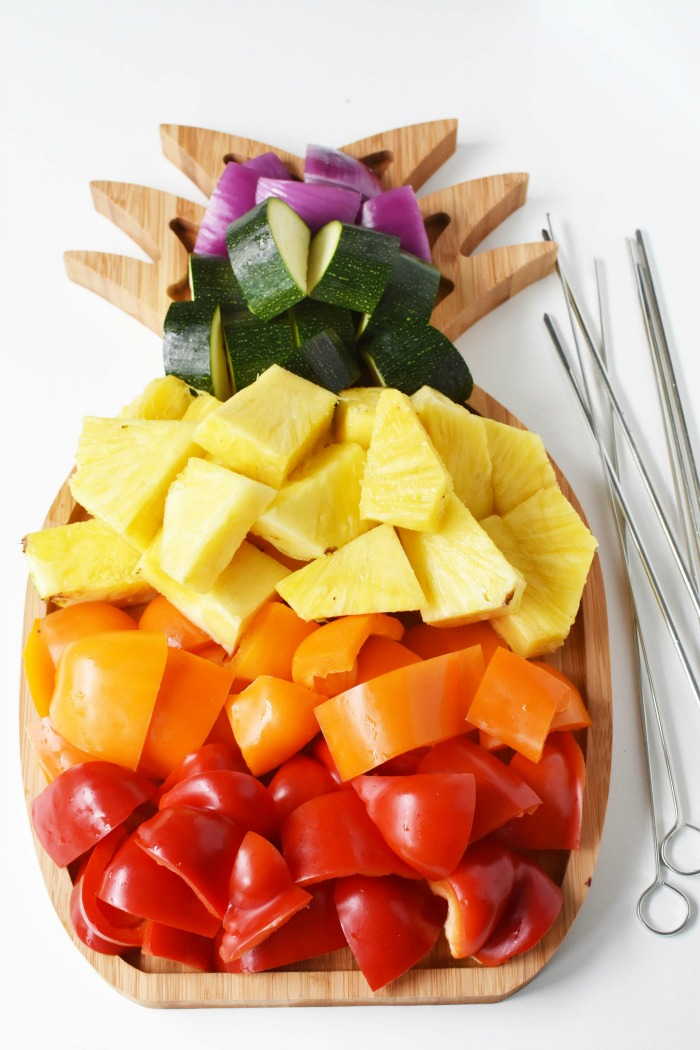 Fruit and Veggie Slices on Pineapple tray 1