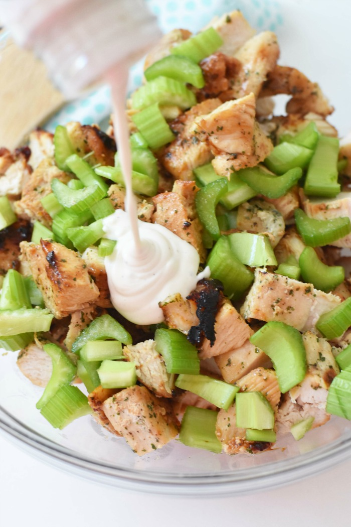 Grilled Chicken Salad with Ranch Dressing 1