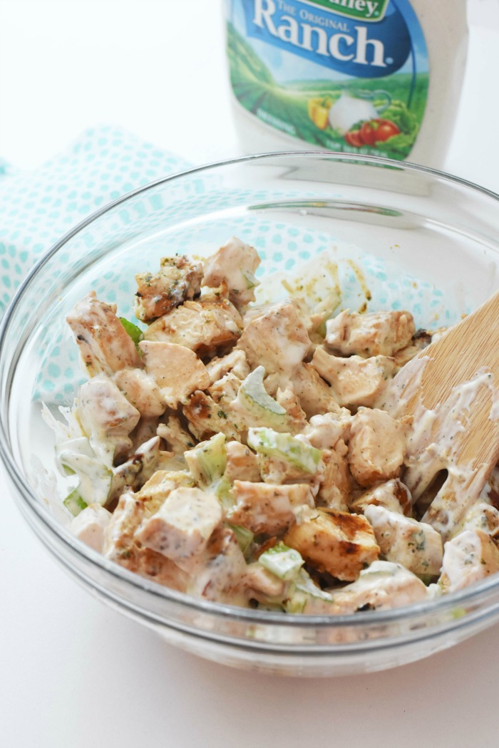 Grilled Ranch Chicken Salad 1