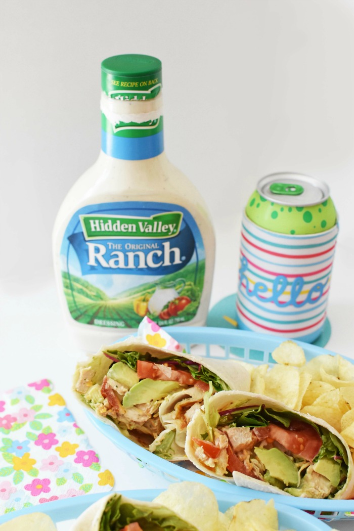 Grilled Ranch Chicken Salad Wraps 1