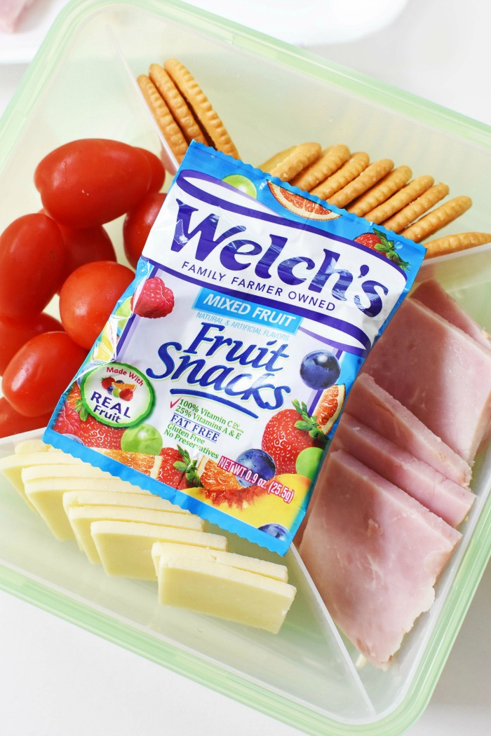 Ham & Cheese Cracker Stackers lunch for kids 1