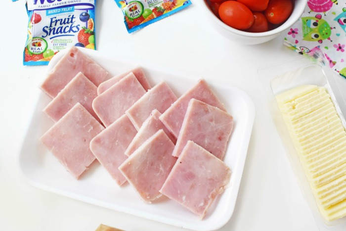 Ham and Cheese Cracker Stacker Ham Squares 1