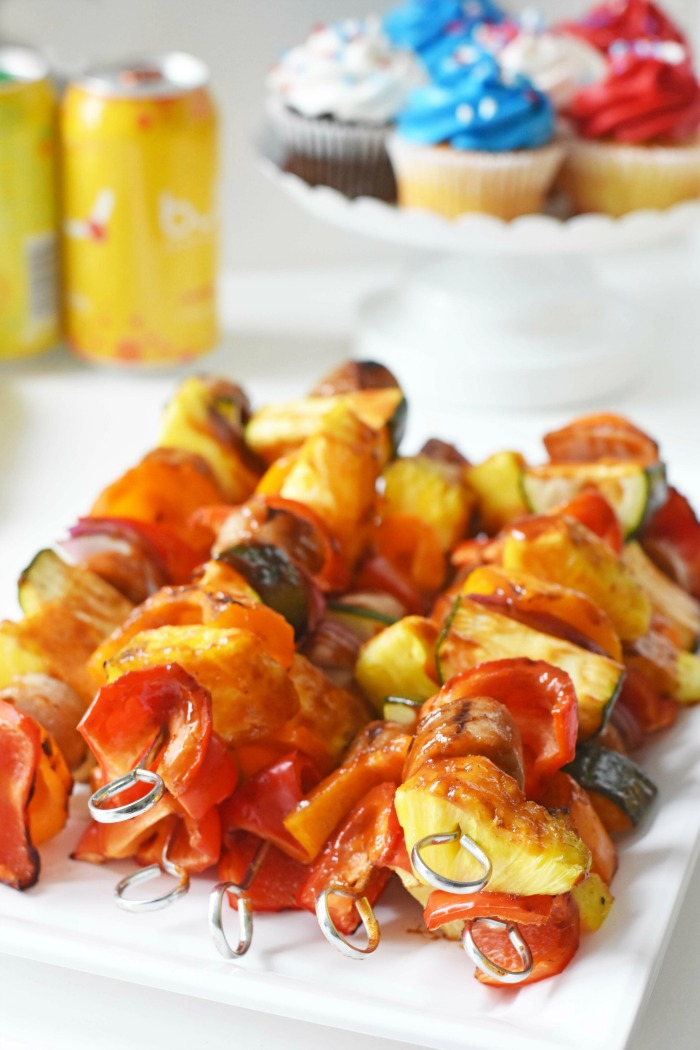 Sweet & Sticky sausage kabobs 1