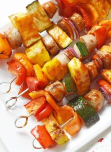Sweet & Sticky Chicken Sausage Kabobs 1