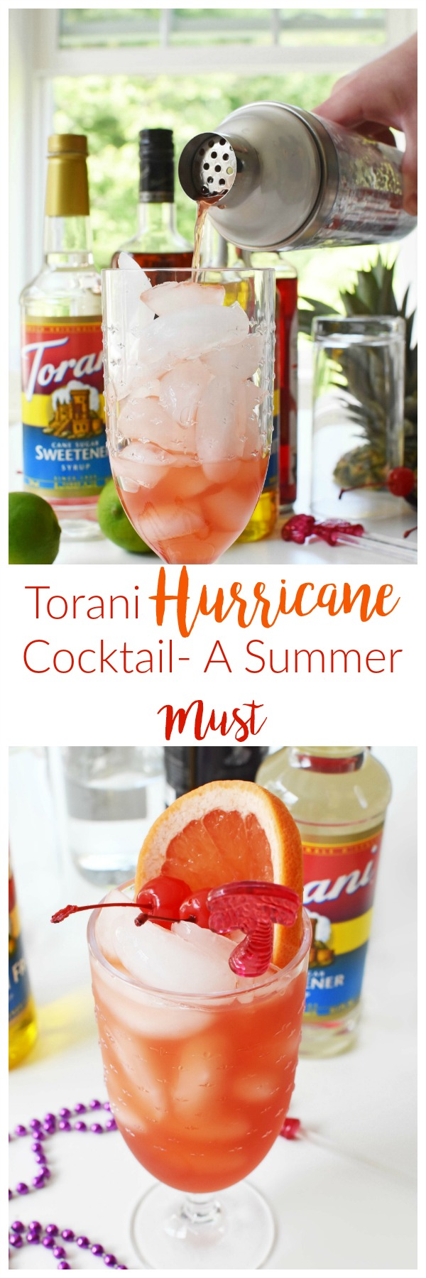 Impress your friends with this tropical, summery, Hurricane Cocktail that features Torani Flavor Syrups and fresh juice.