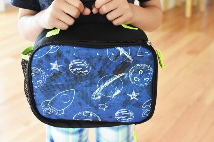 Boy with planet lunchbox 1