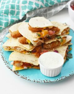 Crunchy Fishsticks Quesadillas 1