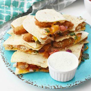 Crunchy Fishsticks Quesadillas 1