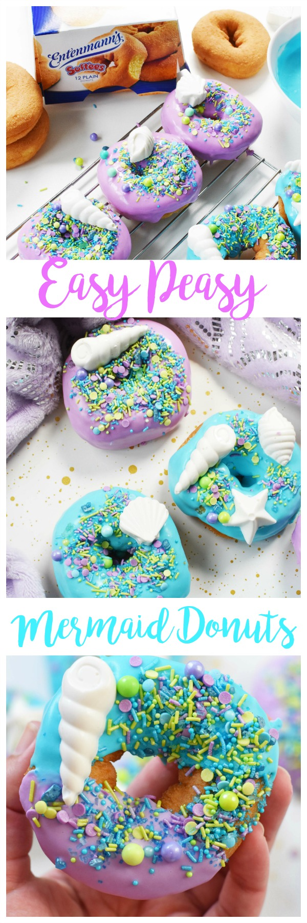 Colorful Mermaid Party Donuts with Candy Shells in Minutes!