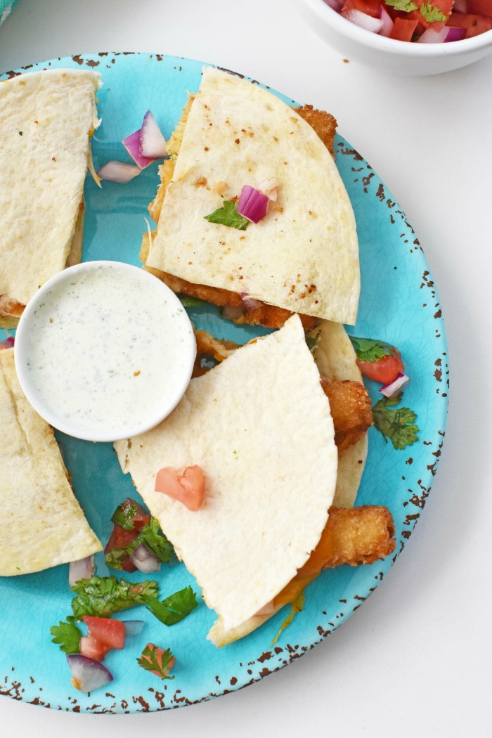 Fish Stick and Salsa Quesadillas 1