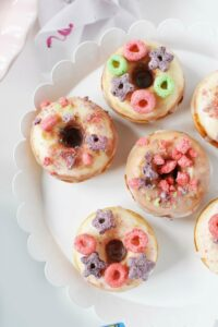 Delicious & Easy Mini Baked Cereal Milk Donuts