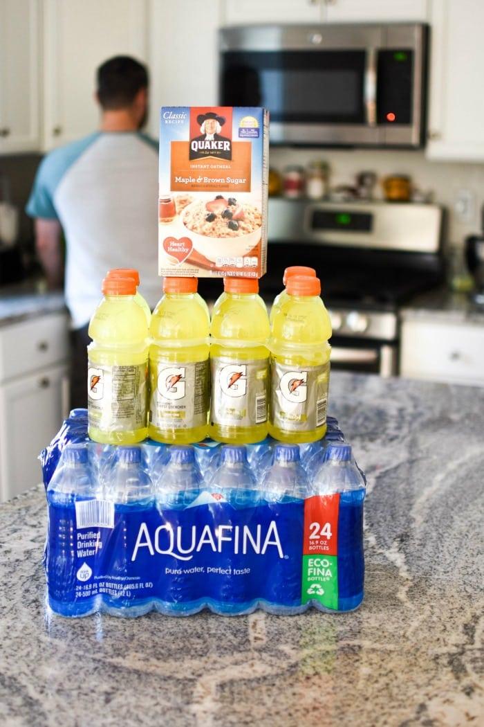 Gatorade and Aquafina on Counter 1