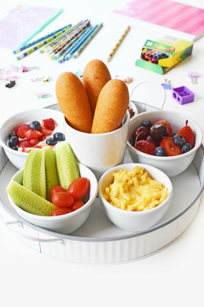 Easy, Kid-Friendly Corn Dog Side Dishes for a Quick Meal. Are you looking for some quick and easy, kid-friendly sides dishes for quick meals like corn dogs? Get inspired with some kid favorite sides! AD