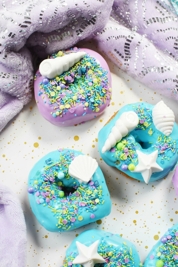 Mermaid Donuts with Sprinkles 1