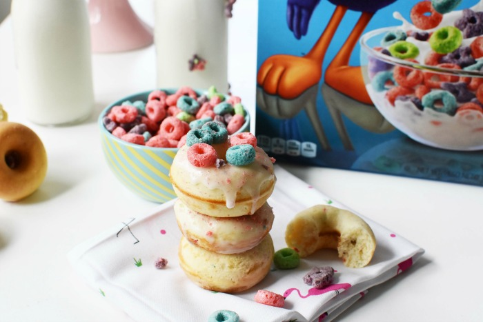 Milk and Cereal Froot Loops Donuts 1