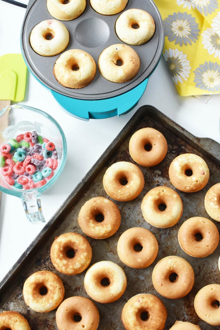 Mini Froot Loops Cake Donuts 1
