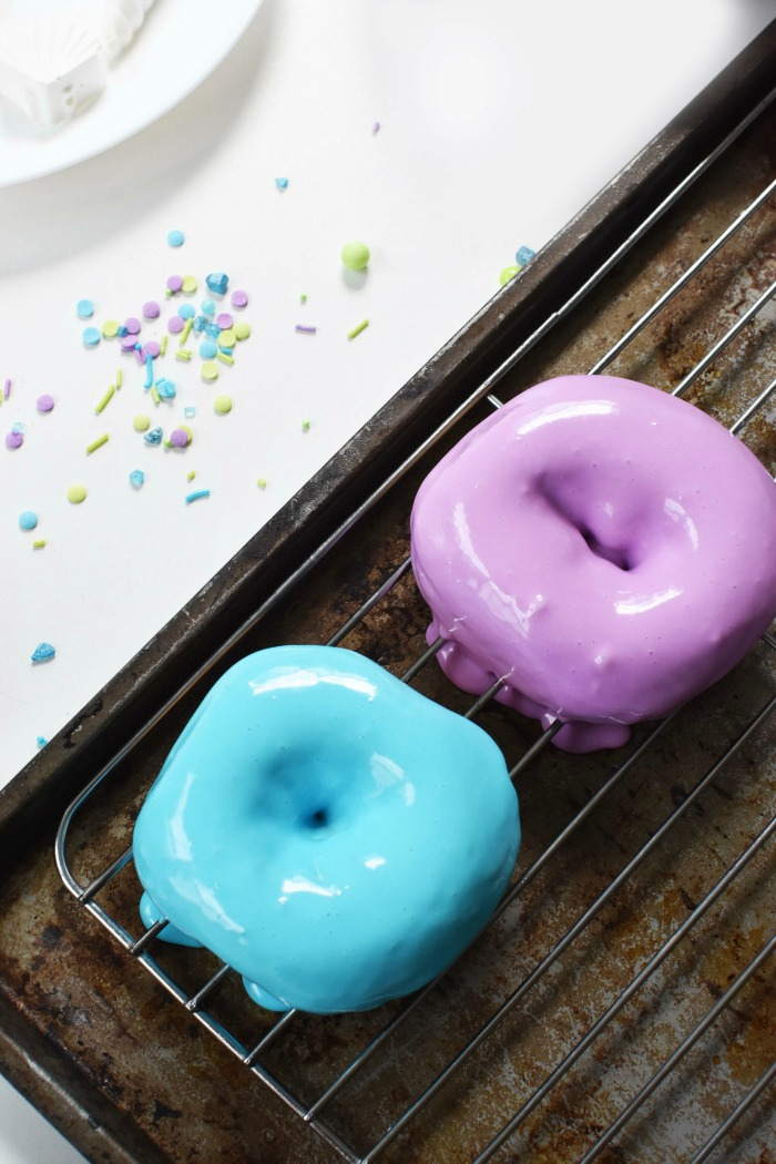 Pink and Purple Glazed Donuts 1