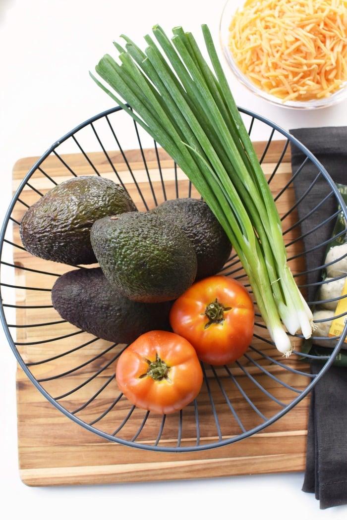 Fresh tomato, avocado and scallions 1